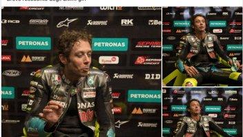 """MotoGP: Rossi diventa un mimo: """"breve resoconto degli ultimi giri del GP"""""""