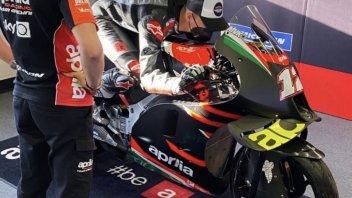MotoGP: PHOTO - Maverick Viñales and Aprilia: first time together at Misano