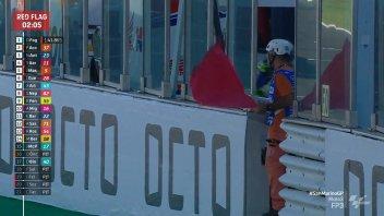 Moto3: Misano: Due bandiere rosse in FP3, paura per Oncu e Surra