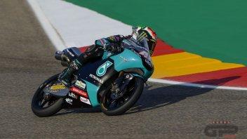 Moto3: Binder in pole ad Aragon davanti a Rodrigo e Suzuki, 5° Migno