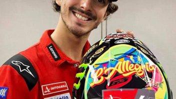 MotoGP: L'Allegria di Bagnaia: un casco dedicato a Morandi e Jovanotti