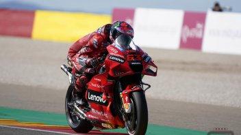 MotoGP: Spettacolo Ducati ad Aragon: Bagnaia in pole, Miller 2°. Quartararo 3°