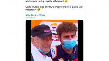MotoGP: History visits Misano: Carlo Murelli in the paddock, HRC technician on the NR500