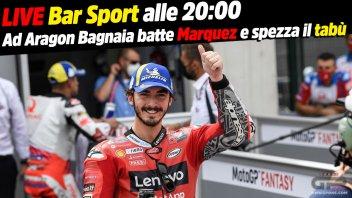 MotoGP: LIVE Bar Sport alle 20:00 - Aragon: Bagnaia batte Marquez e spezza il tabù