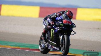 MotoGP: Quartararo risponde a Ducati e Aprilia: 1° in FP3 ad Aragon. Marquez cade