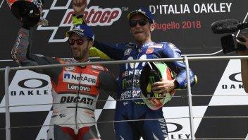 MotoGP: Rossi e Dovizioso insieme: la fine per Vale, un nuovo inizio per Andrea