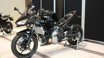 Moto - News: Kawasaki svela la sua prima moto ibrida, con un motore elettrico