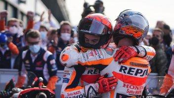 """MotoGP: Marquez: """"ho giocato un campionato a parte.Il vincitore di oggi è Fabio"""""""