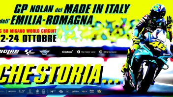 """MotoGP: Misano celebra Valentino Rossi sul poster del GP: """"Che storia..."""""""