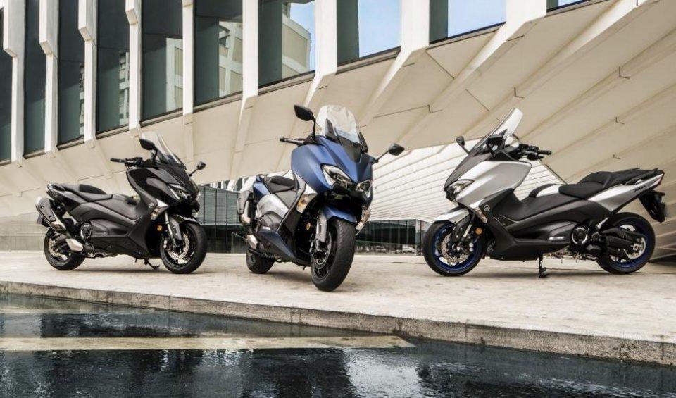 """Tre allestimenti per il maxi scooter di Iwata. Disponibile da Aprile con prezzo a partireda 11.490 euro f.c. per la versione """"base"""""""