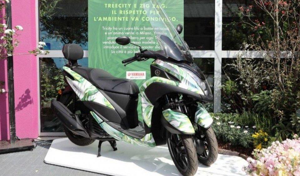 News Prodotto: Yamaha TreeCity: una Milano più verde e meno trafficata