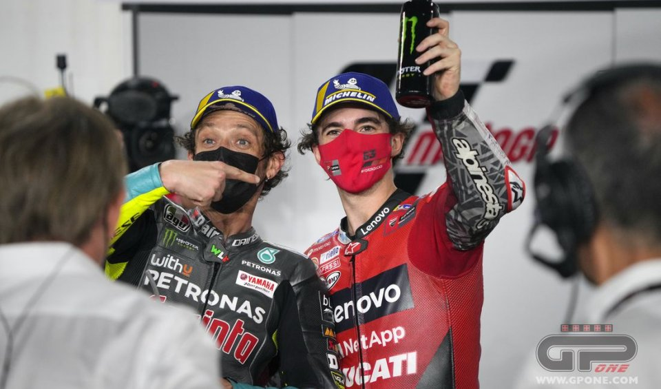 MotoGP: Bagnaia in paradiso, Rossi all'inferno: il confronto fra 2020 e 2021